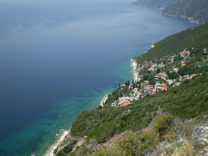 The view from mount Athos, 2005.
