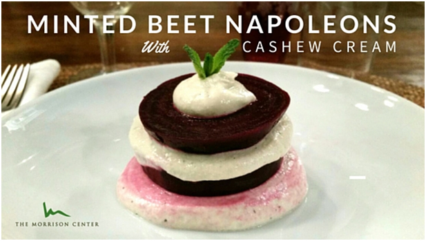 First Course: Minted Beet Napoleons