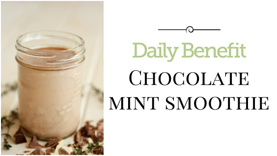 Feelin' Fresh! Chocolate Mint Smoothie