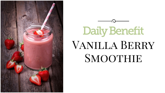 Our Love Letter to You: Vanilla Berry Smoothie