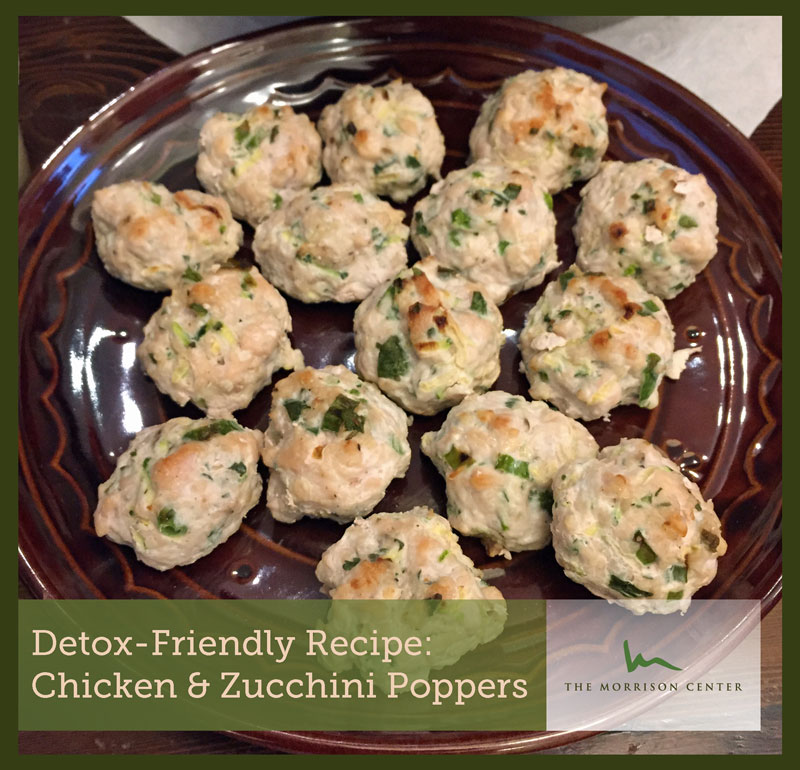 Detox Recipe: Chicken & Zucchini Poppers