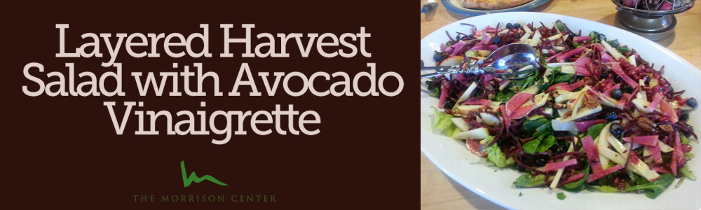 Layered Harvest Salad with Avocado Vinaigrette