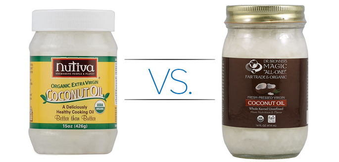 Coconut Oil Product Reviews: Dr  Bronner's vs  Nutiva